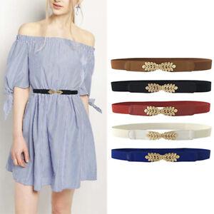 Women Fashion Waist Belt Narrow Stretch Dress Belt Thin Buckle Waistband New YAN