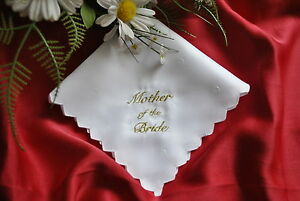 Personalised Hankie Mother Of The Bridefather Of The Groom