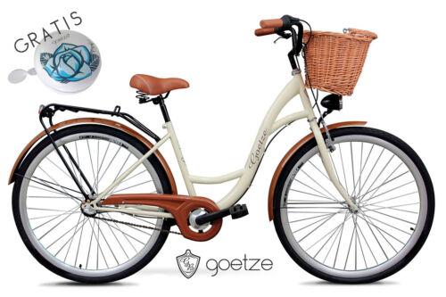 Damenfahrrad mit Korb Citybike Damenrad GOETZE Classic 28 Zoll 3 Gang Cityrad