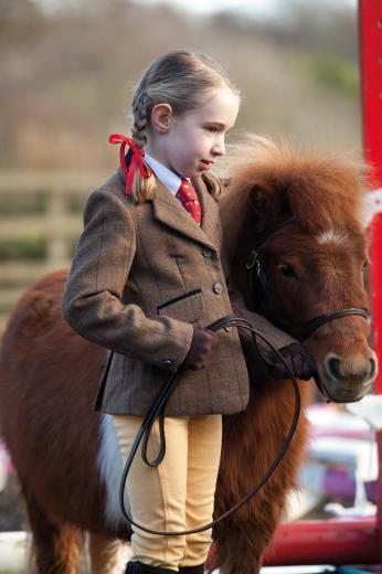 nuovo di Zecca Shires Huntingdon bambino Marronee Tweed che mostra Giacca Taglia 28
