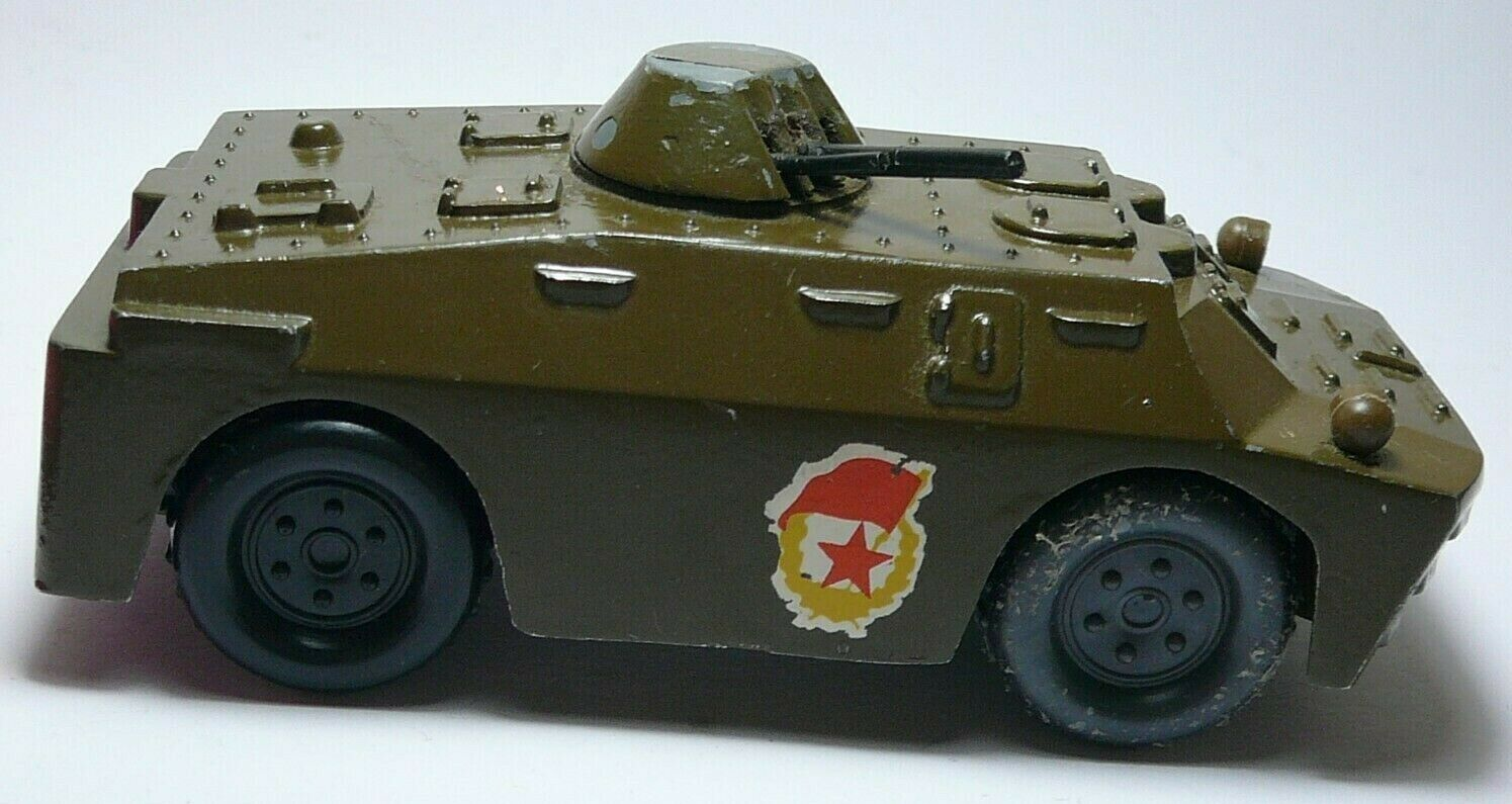 Soviet Army Military Armored Reconnaissance Vehicle Metal Toy USSR