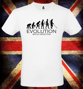 Détecteur de métaux Evolution T Shirt-Drôle T-Shirt DARWIN théorie Hobby Rétro Nerd
