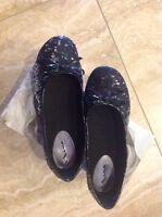 In Box Nina Kids Black Sequin Shoes Flats Alina Size 4 M Dillards