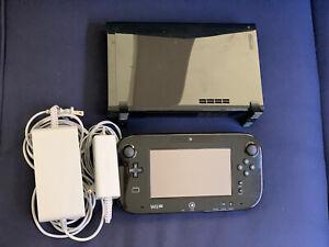Nintendo Wii U Deluxe 32 GB Black System  Console Bundle + Sensor Bar. Working