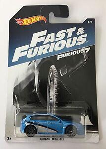 Hot Wheels Fast Furious 7 SUBARU Impreza WRX STI JDM RS WRC SPT APR Turbo Oem