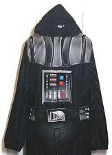 Star Wars Costume Darth Vader Adult Medium Fleece Pajamas One Piece Union Suit