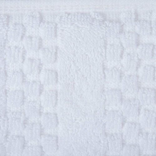 """16/""""x30/"""" 100/% Combed Cotton Terry Hand Towel Checkered Border Hemmed 4.5 lb.-12pk"""