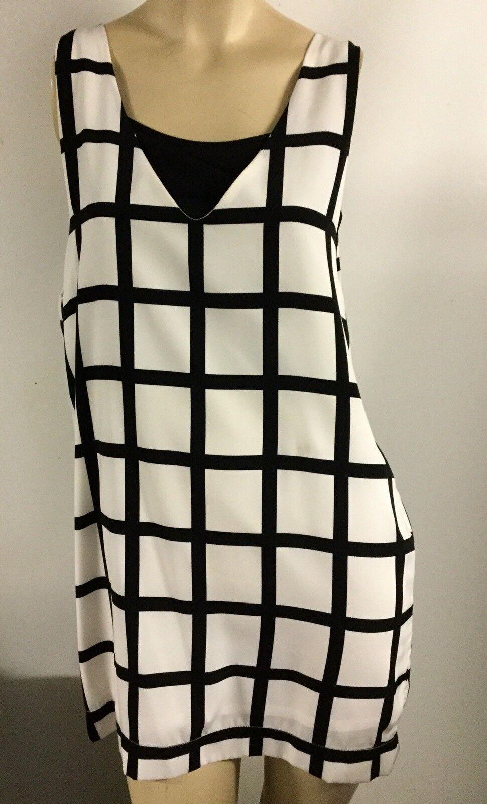 Cooper Check Checkerot Racing Dress Größe 14 16