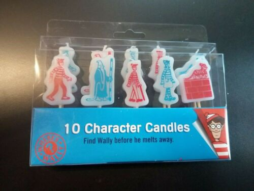 """10 CHARACTER CANDLES CHILDREN BIRTHDAY PARTY CELEBRATION /""""WHERE/'S WALLY?/"""""""