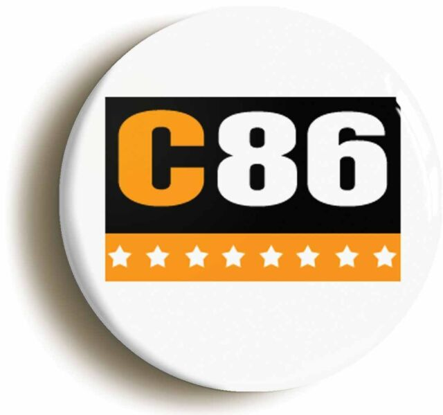 C86 NME RETRO BADGE BUTTON PIN (1inch/25mm diameter) 1980s INDIEPOP SARAH