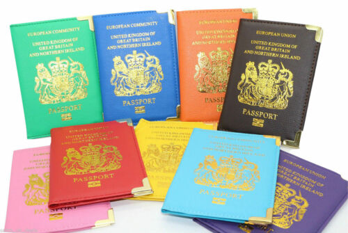 Standard Passport Holder Cover For UK European /& Any Passport Cover PU Leather