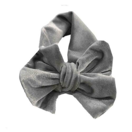 Newborn Kids Baby Velvet Big Bow Hair Band Ties Head Wrap Turban Knot Headband