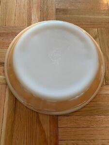 "Fire King Ovenware Pie Plate 9.5"" Usa Pyrex Peach Orange White"