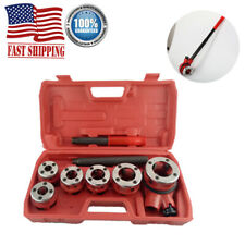 New Ratchet Pipe Threader Kit With 6 Dies Amp Storage Case Pipe Threading Tool Set