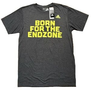 NWT-ADIDAS-034-BORN-FOR-THE-END-ZONE-034-T-SHIRT-Color-MED-GREY-DARK-GREY-Sz-M-L