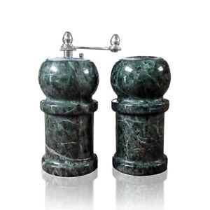 Set da Cucina Sale e Pepe Marmo Verde Green Italian Marble Salt and ...