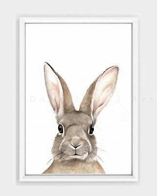 Rabbit Print nursery prints bunny print bunny nursery baby room art animal