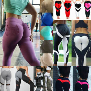 7724fd447b26c Women's Sports Yoga Leggings Running Gym Workout Pants Fitness ...