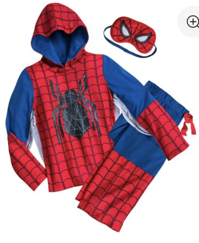 Authentic Disney Store Marvel Deluxe Pajamas Set Spider-Man Size 9//10 Youth NWT
