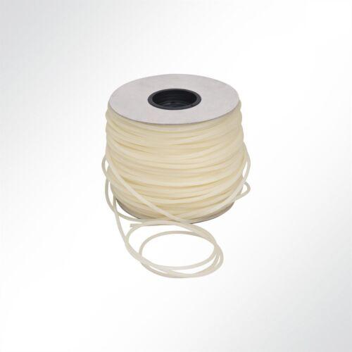 Lysel® TPU Desmopan Gummi Seil hohl 7mm weiß