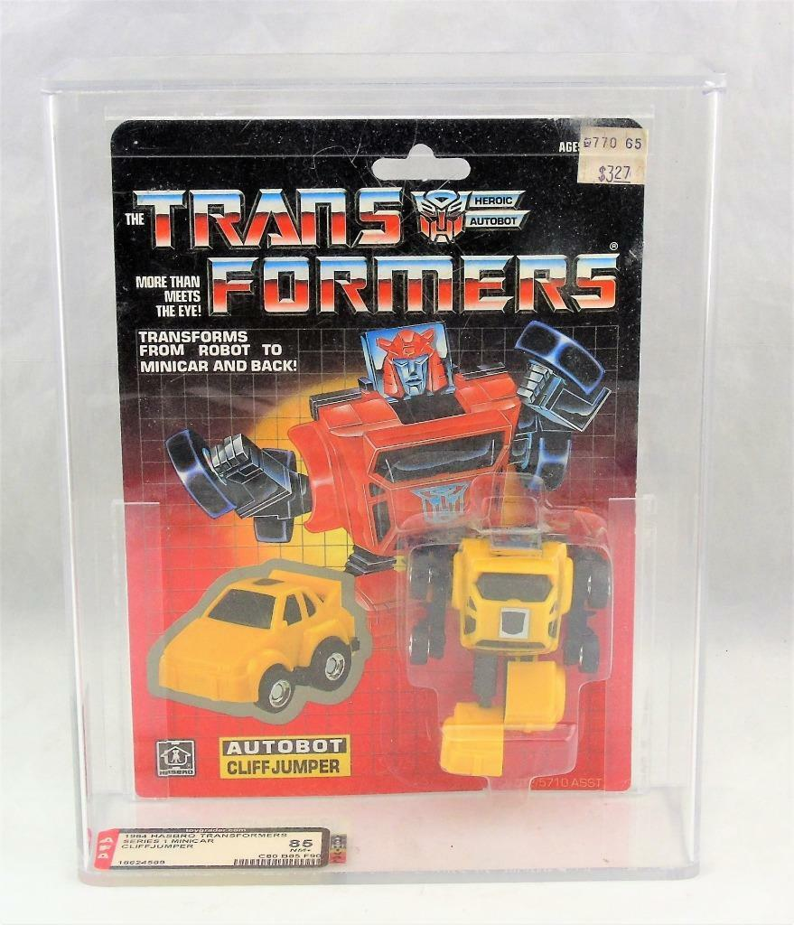 Transformers Original G1 AFA 85 Minibot Cliffjumper giallo MOSC 80/85/90