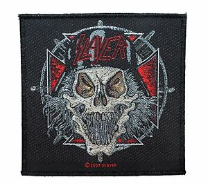 SLAYER-SOLDIER-SKULL-WOVEN-PATCH-BRAND-NEW-MUSIC-BAND-2197