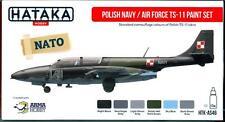 Hataka Hobby Paints POLISH AIR FORCE & NAVY TS-11 ISKRA Acrylic Paint Set