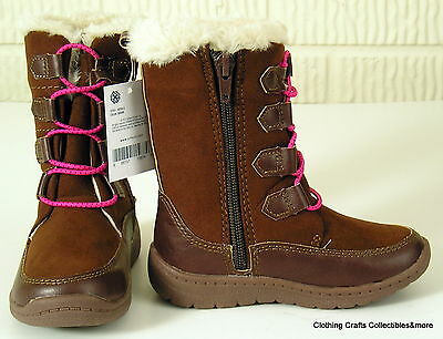 NEW OshKosh B'Gosh Toddler Girls Size 8 Brown Winter Boots Nessa G