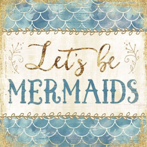Let/'s be Mermaids Framed or Plaque by Mollie B MOL1662 Art Print