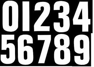 Autoadesivo Adesivi impennata Bin numeri Wheely ADESIVI pattumiera BIANCO  </span>