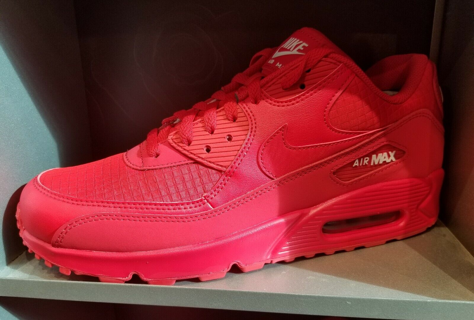 Men's Nike Air Max 90 Essential Running shoes - University Red White