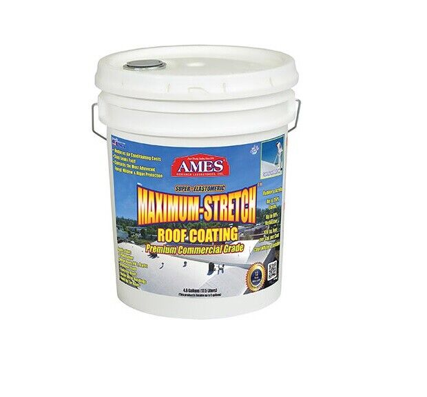 1 Ames Mss5 5 Gallon White Super Elastomeric Rubberrized