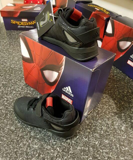 f4367c4c0cf9a0 adidas Spider-man RAPIDA Run I Black Infant Toddler US 9.5 Uk9 Shoes S81130  RARE for sale online