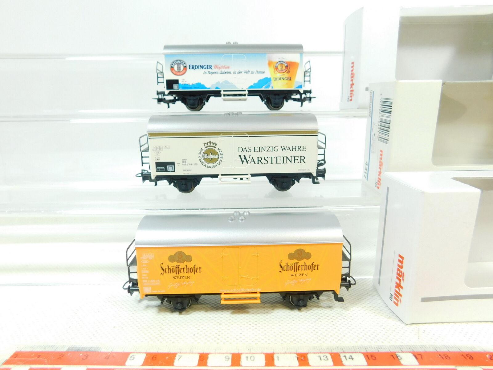 BS517-0,5 x Märklin H0   Ac Bierwagen 4419, 44191, 44193 Neuf ; Ovp