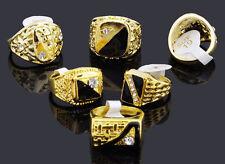 MEN's Gold Moda Anello-Taglia 18 mm