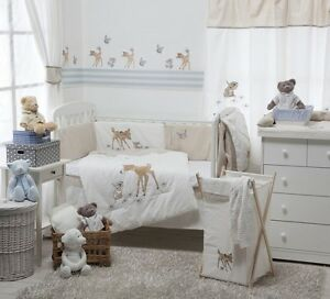 Brand New Disney Dearest Bambi 4 Piece Bedding Cot Set Ebay