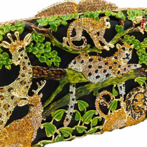 Evening Boek Wedding Animal Tiger tas Crystal Clutch Christmas Jungle 7y6gbf