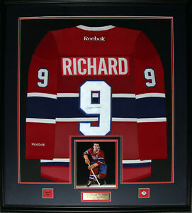 Maurice-Richard-Montreal-Canadiens-Signed-jersey-NHL-Hockey-Collector-Frame