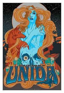UNIDA-AUSTRALIA-NZ-CONCERT-TOUR-POSTER-13-ART-VANCE-KELLY-METALLIC-FOIL-Kyuss