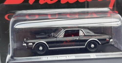 Neuf sous blister M2 machines auto drivers Mercury  Cougar 1968 Echelle 1//64