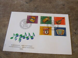 1985-Switzerland-FDC-Cover-National-Music-Festival