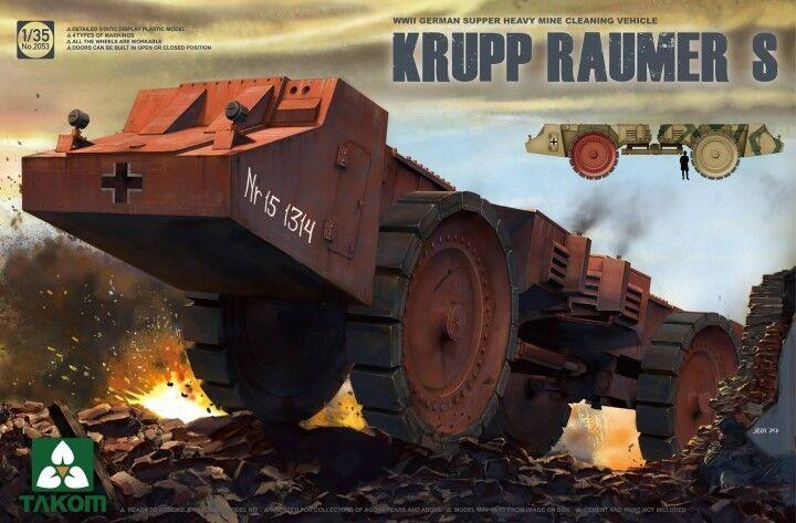 ENGIN DE DEMINAGE KRUPP RAUMER S, 1944 - KIT TAKOM INTERNATIONAL 1 35 n° 2053