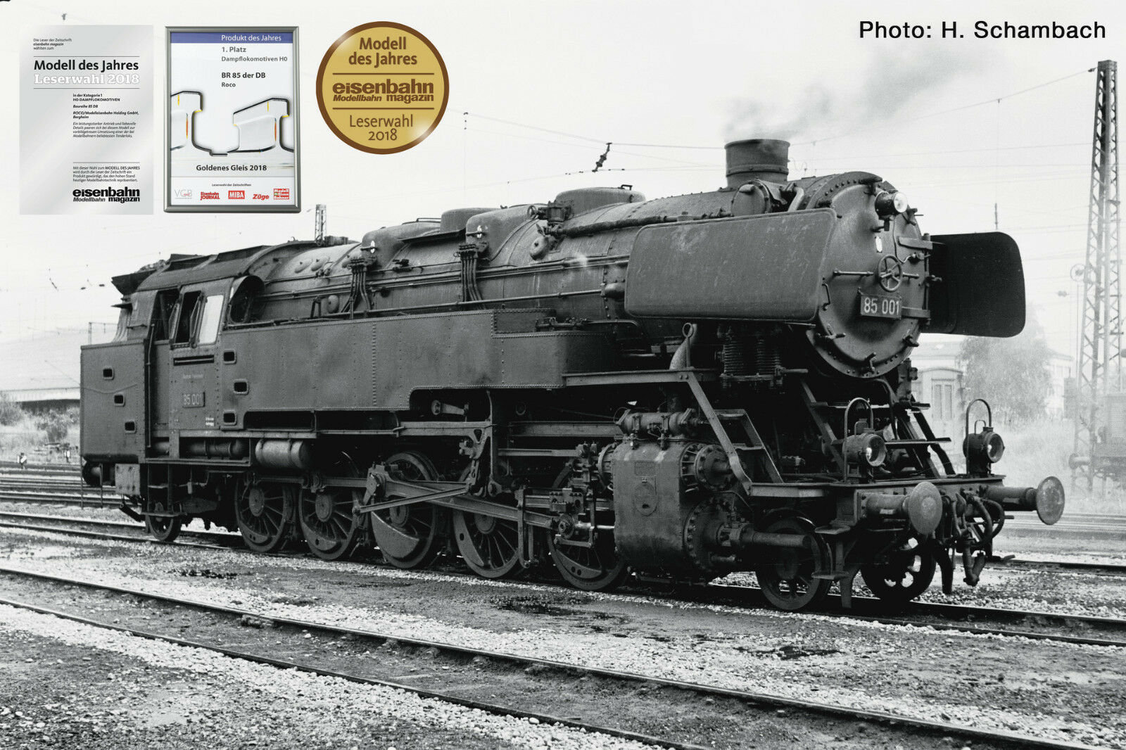 ROCO ROCO ROCO 72263 DC, locomotiva 85 001, DB, Digital Sound Dyn. vapore, novità 2018 ausverk. 9fbb6a