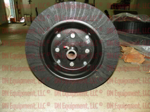"""w// Bushing Hub and Axle Bolt Tailwheel for Rotary Cutter 15/"""" Diam X 4/"""" Wide"""