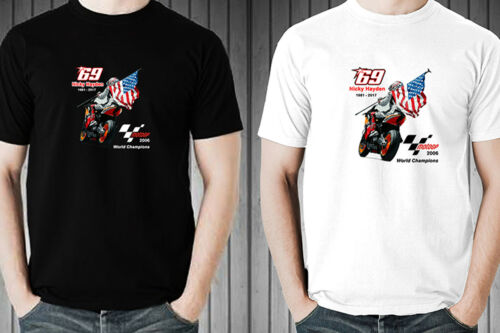 NICKY HAYDEN AMERICAN RAIDER MOTOGP CHAMPIONS men t-shirt 100/% cotton