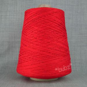 Doux Coton mercerisé fil 500 G Cônes 3 plis Cannelle machine à tricoter Tissage