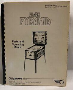 Black-Pyramid-Parts-And-Operating-Manual-Bally-Midway