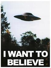 POSTER X FILES I WANT TO BELIEVE VOGLIO CREDERCI ALIEN UFO ALIENI SERIE TV #5