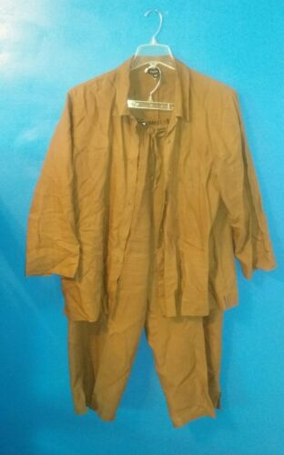 Eileen Fisher Pant Suit Outfit 1X 2pc 2 Piece Brow
