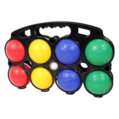 Boccia Set Kunststoff Boule-Kugeln Bouleset Tragekorb 8 Kugeln Petanque 4 Farben